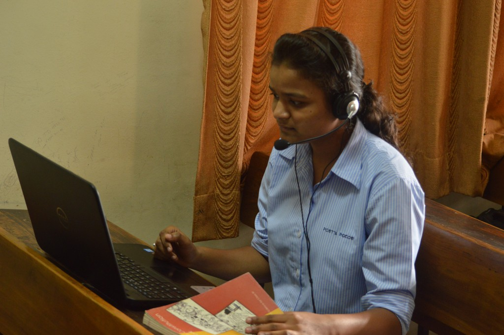 Volunteer from PCCOE college contributing by recording book for ROSHNI Readers and Writers Initiative
