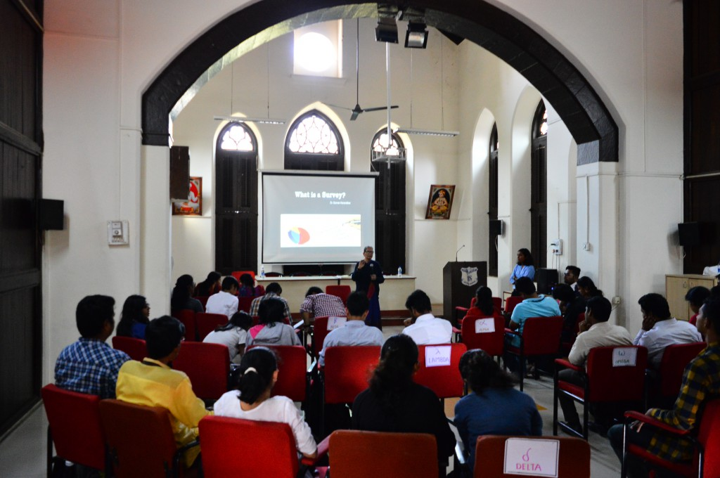 Workshop on Survey Design and Data Analysis organsied by ROSHNI Foundation and Socila Outreach Department of Fergusson College.